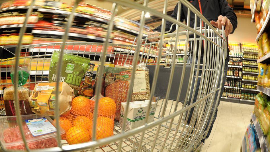 Einkaufswagen mit Lebensmitteln: Neue Kennzeichnung soll kommen