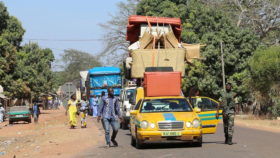 Grenzposten in Seleki zwischen dem Senegal und Gambia (Archivbild)