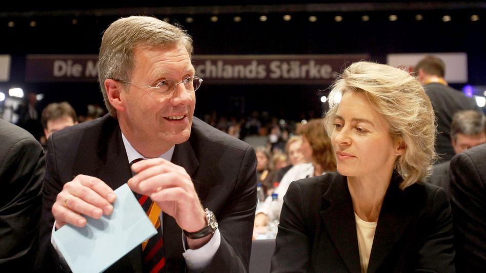 Christdemokraten Wulff, von der Leyen: Machtkampf um Schloss Bellevue