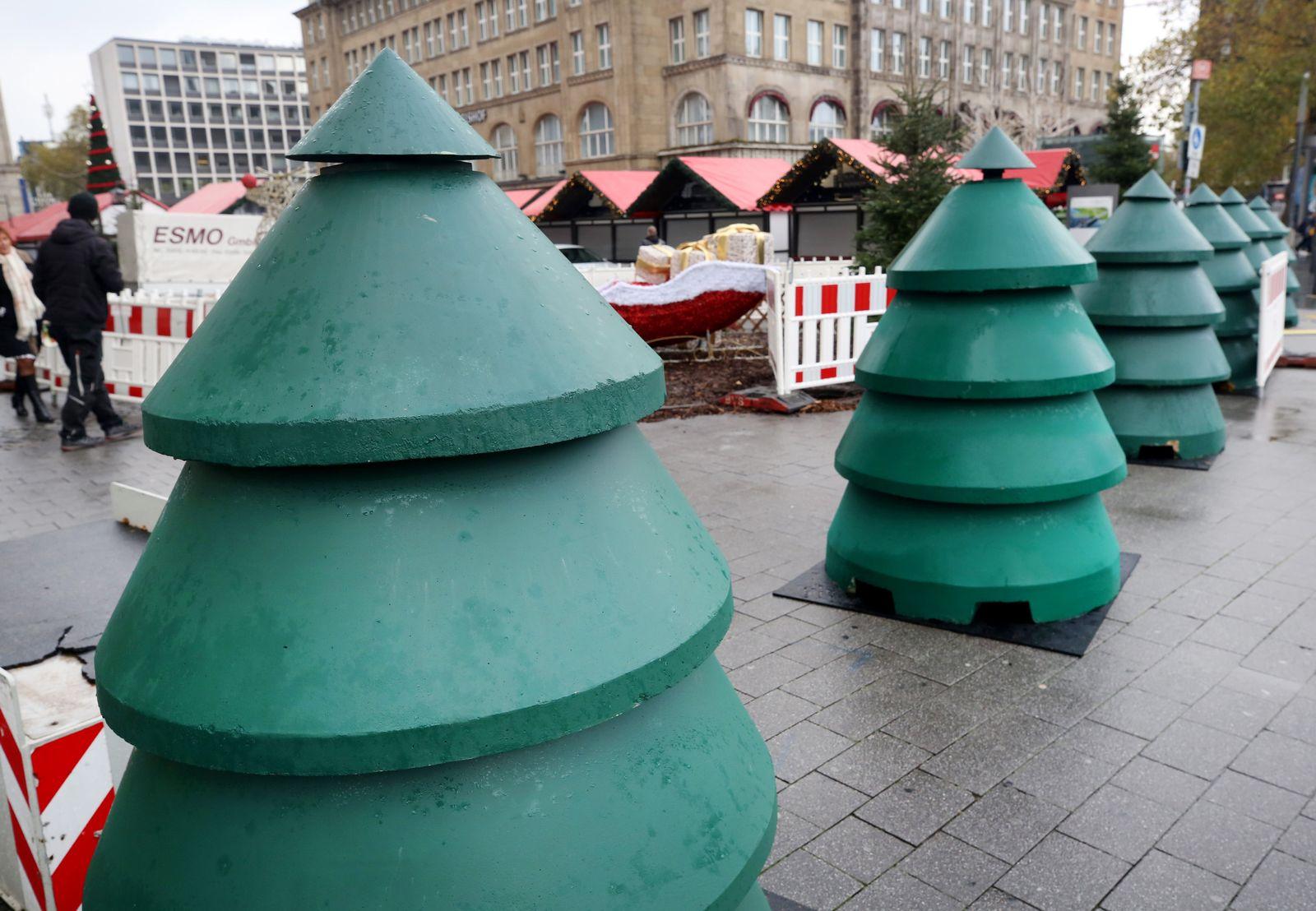 Durchfahrtssperre vor Weihnachtsmärkten