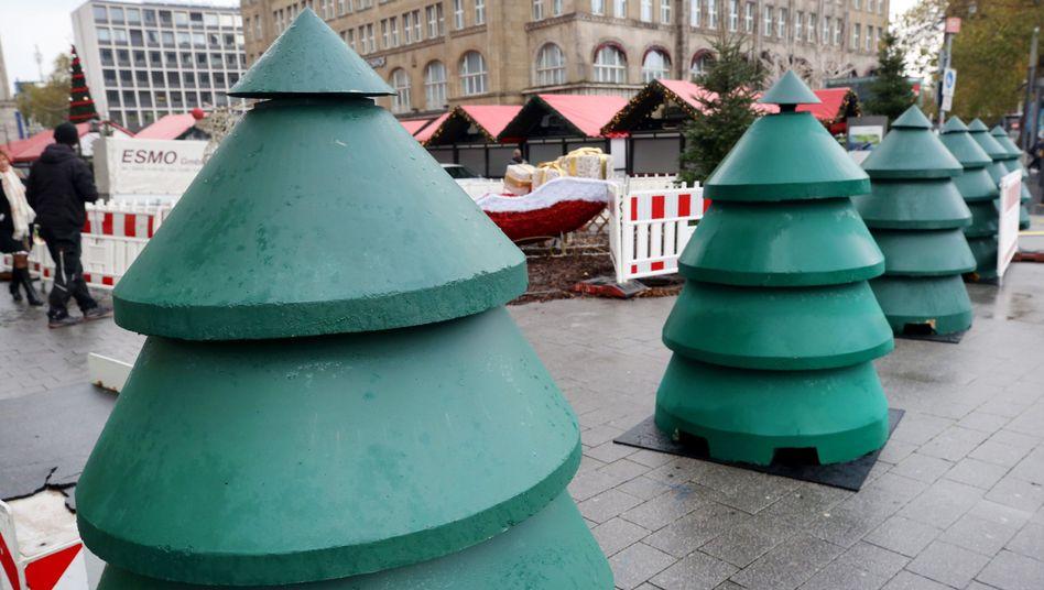 """Betonsperren am Weihnachtsmarkt: Den Eingang """"ansprechender gestalten"""""""