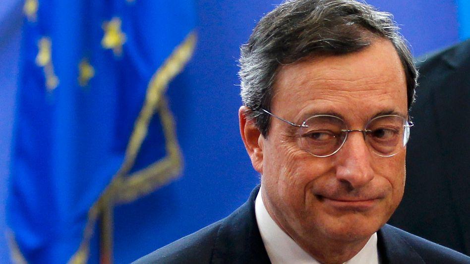 European Central Bank President Mario Draghi at the euro summit on Dec. 9.