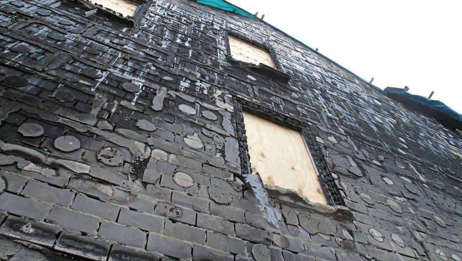 Abgebrannte Fassadendämmung: Gut vor allem für den Hersteller