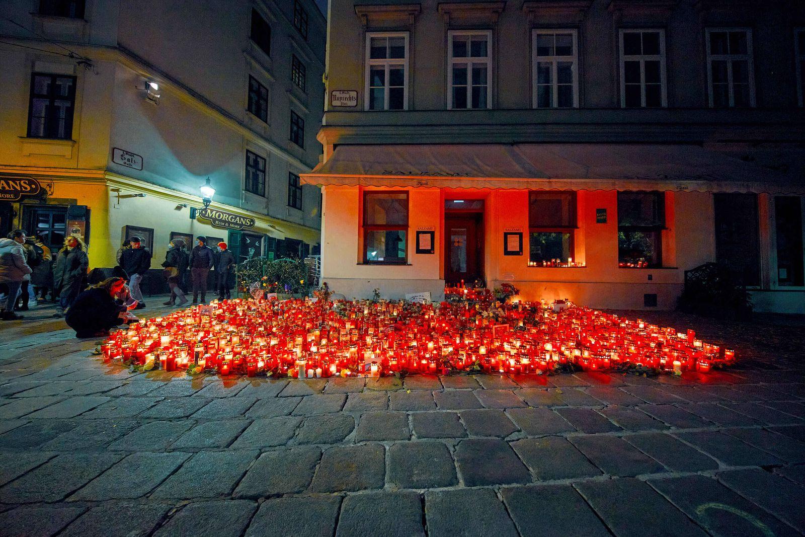 - Wien 08.11.2020 - Knapp eine Woche nach dem Terroranschlag in der Wiener Innenstadt bei dem fünf Menschen getötet wur