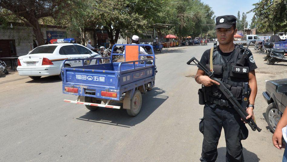 Polizeiposten in Xinjiang (2013)