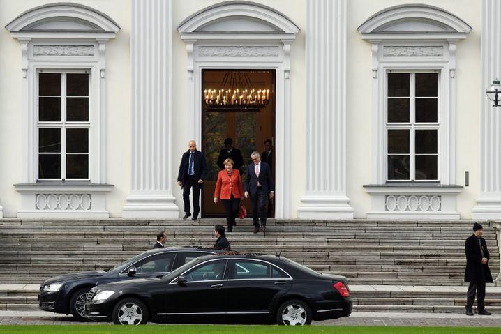 Merkel nach Gespräch mit Steinmeier