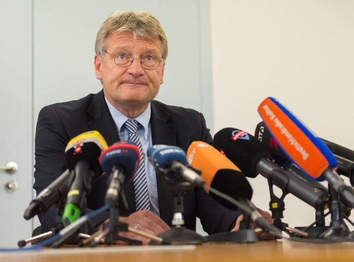 Meuthen auf AfD-Pressekonferenz zum Fall Gedeon