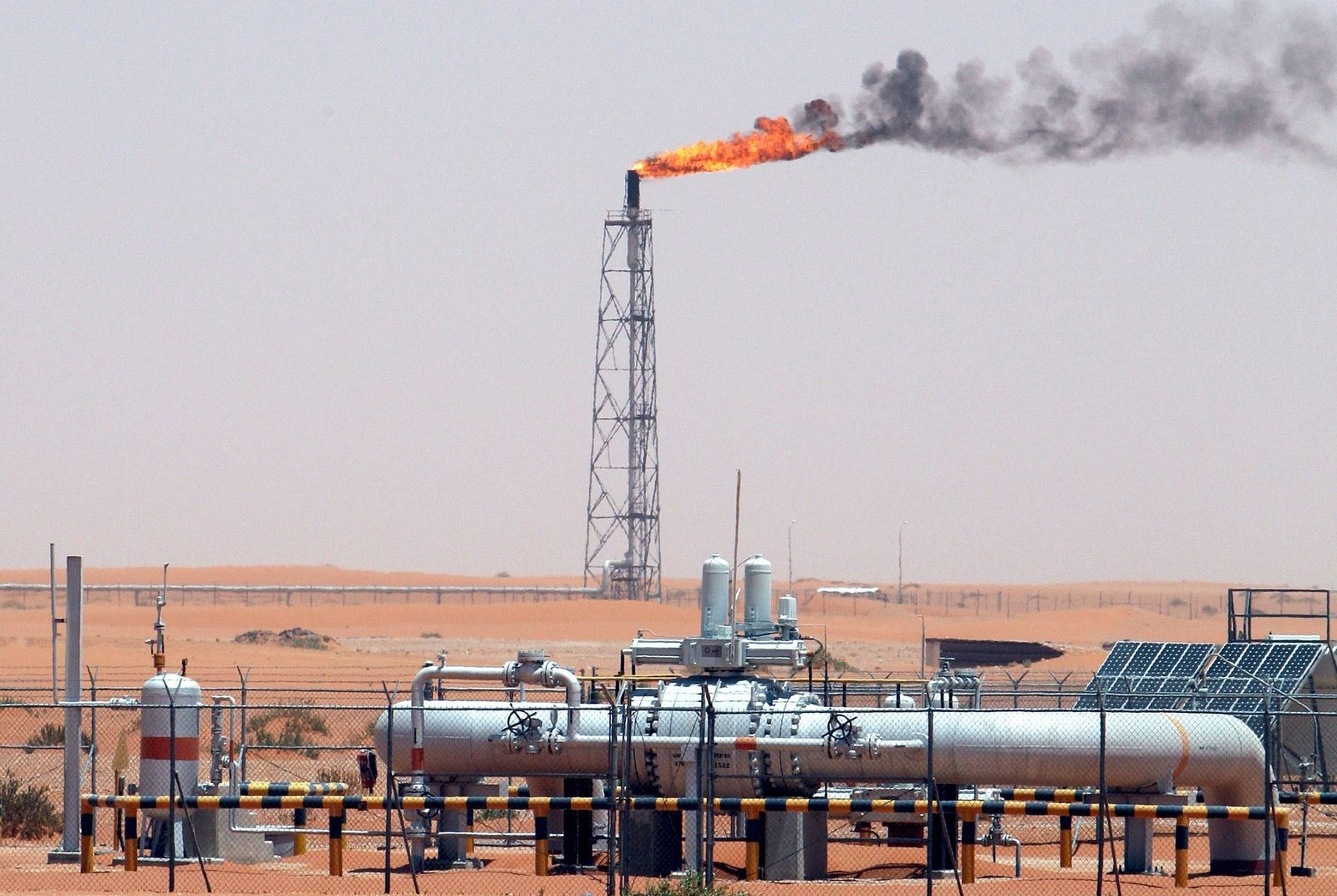 Ölförderung in Saudi-Arabien