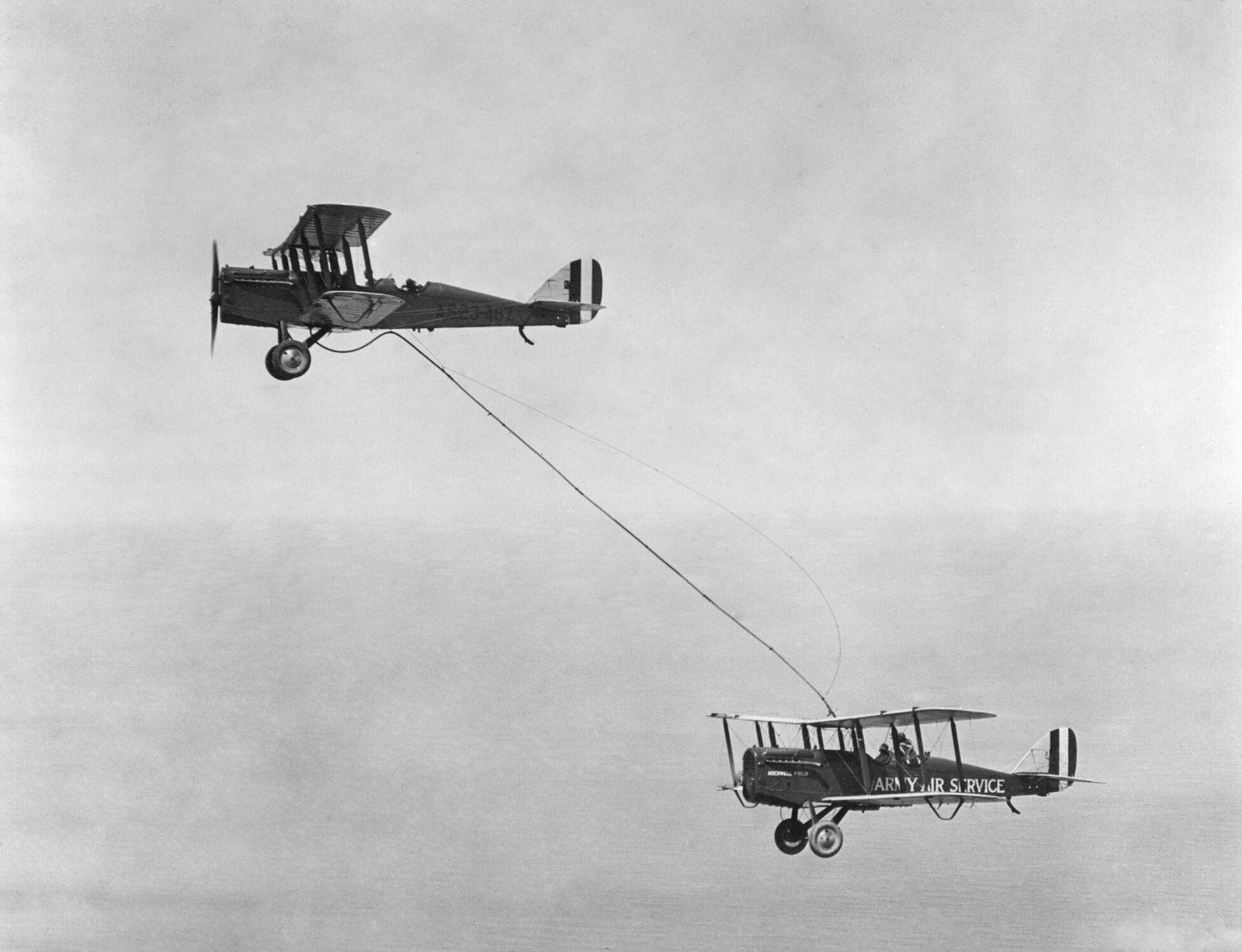 Erste Luftbetankung in den USA, 1923