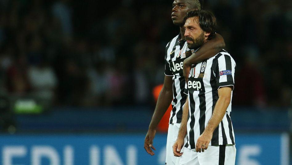 Turins Pogba und Pirlo: Konnten schon bald wieder lächeln