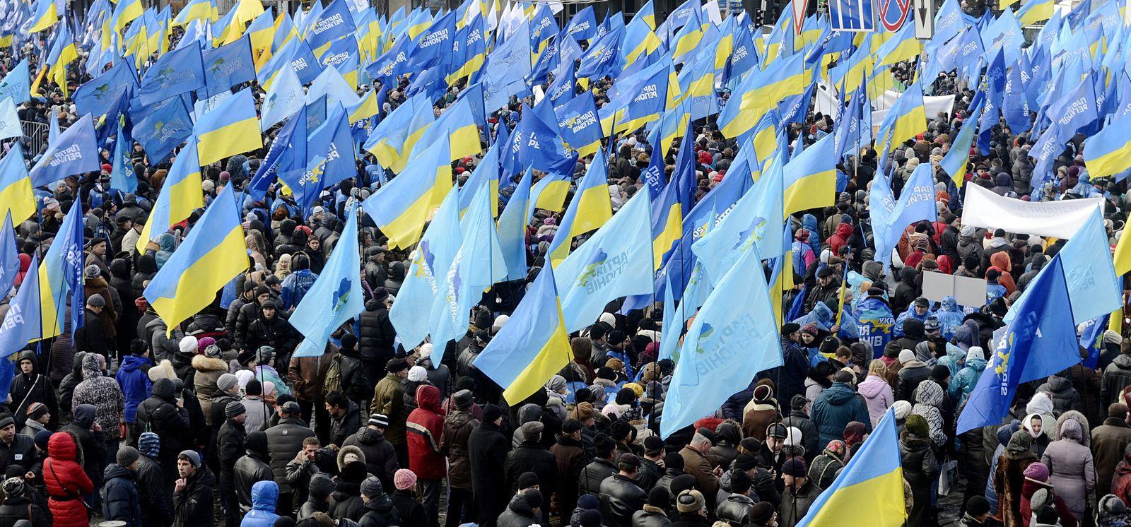 Demo in Kiew gegen Janukowitsch