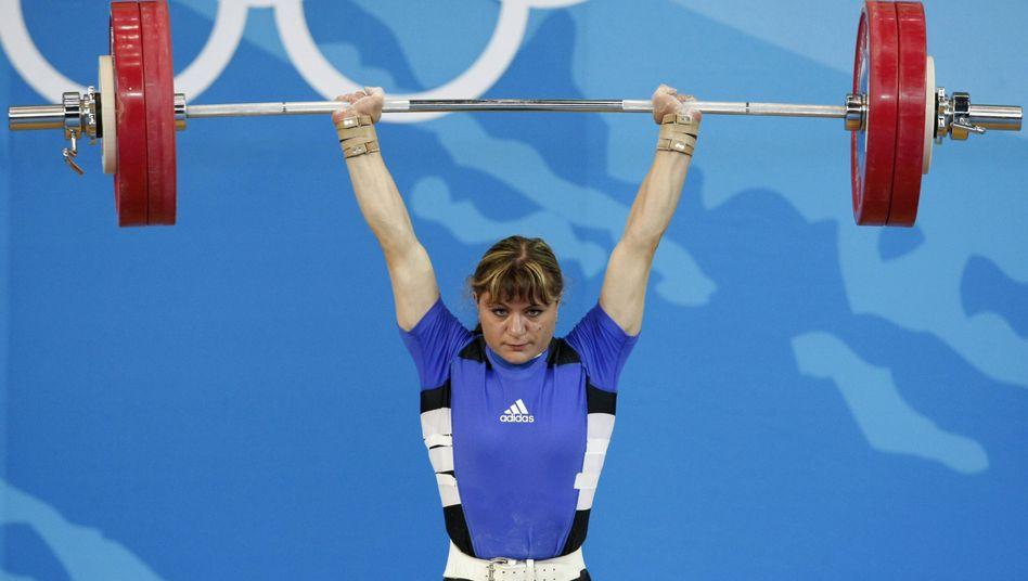 Gewichtheberin Irina Nekrassowa