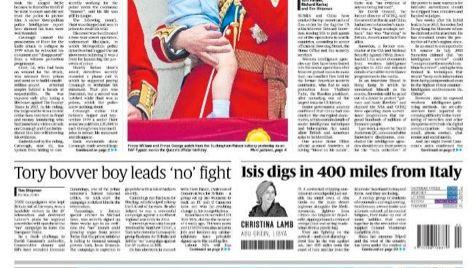 """Titelblatt der """"Sunday Times"""" mit besagter Story (r.): Belege bleibt der Artikel schuldig"""