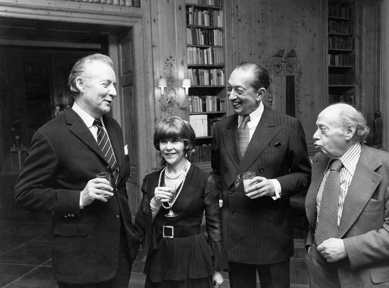 Springer, Axel - Verleger, D/ v.l.: A.S., Frau Habe, Hans Habe, H. Wallenberg