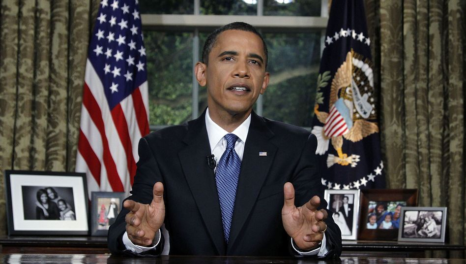 US President Barack Obama addressed the American public from the Oval Office on Tuesday evening.