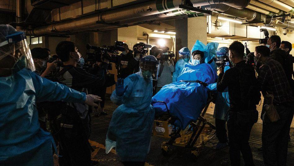 """Patient mit Symptomen der neuen Lungenseuche in Hongkong: """"Hände waschen, Mundschutz tragen, nicht arbeiten oder reisen"""""""