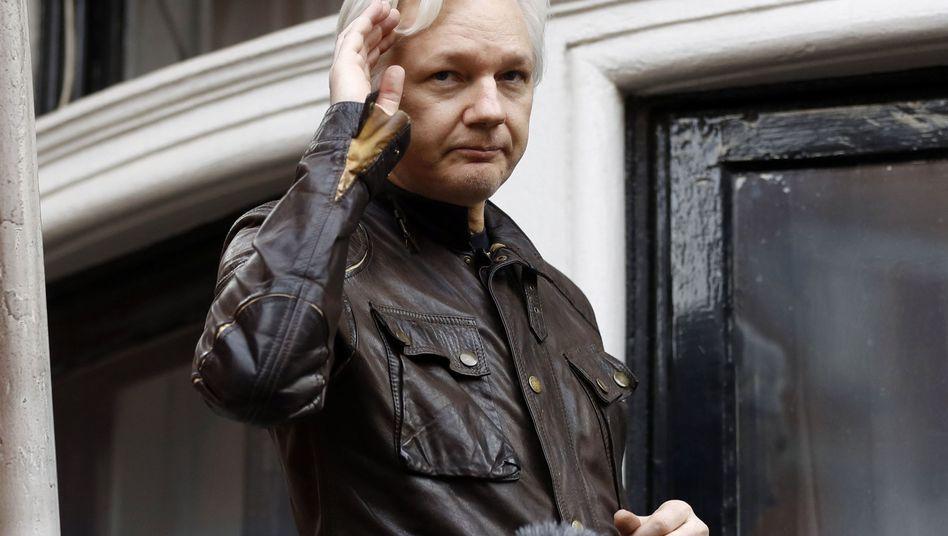Julian Assange at the Ecuadorian Embassy in 2017