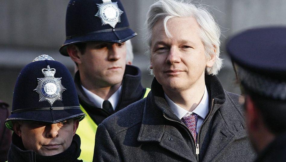 Assange in London