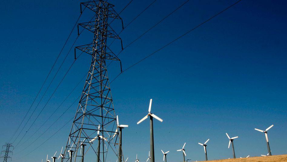 Windräder und Stromnetze