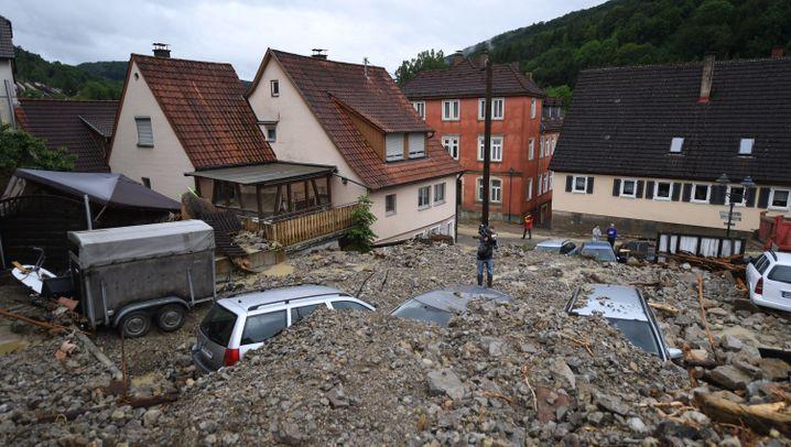 Unwetter: Zerstörung in Braunsbach