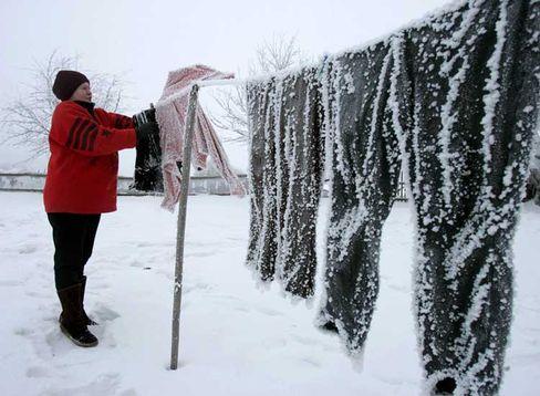 Jetzt nur noch auf die Sublimation warten: Manchmal trocknet Wäsche im Frost besser als im warmen Keller