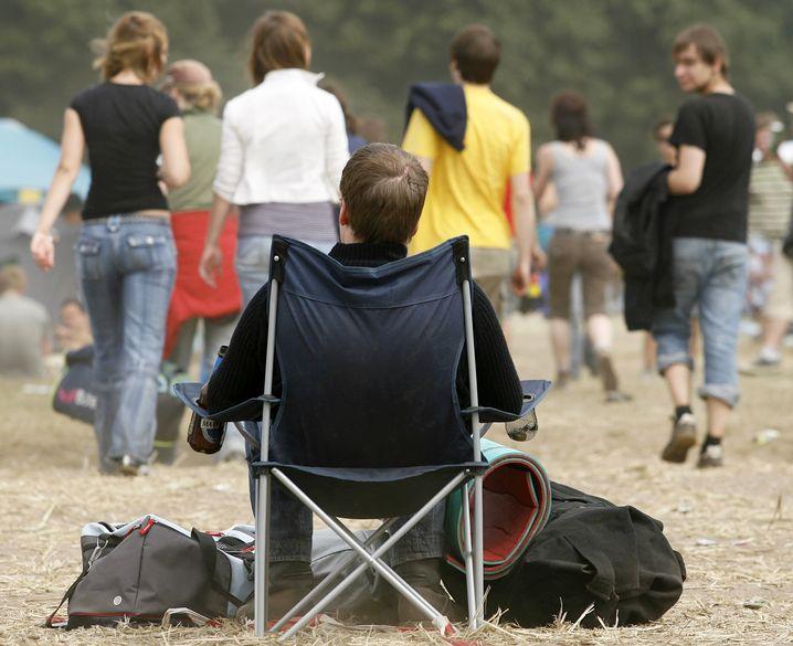 Hurricane-Festival: Manche Besucher verbringen viel Zeit in ihrem Klappstuhl