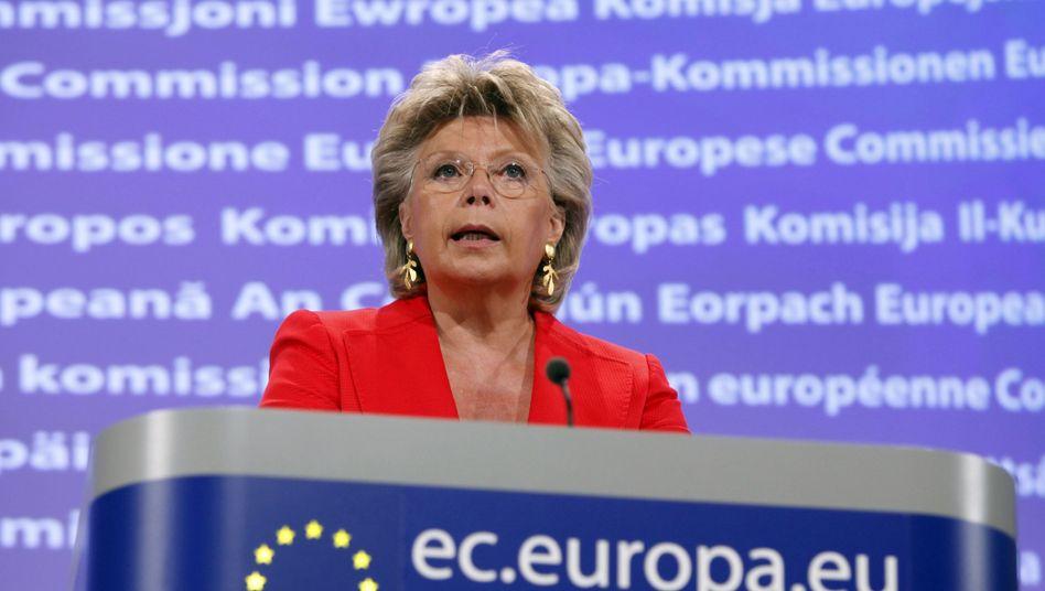 EU-Kommissarin Reding: Galgenfrist bis 2011