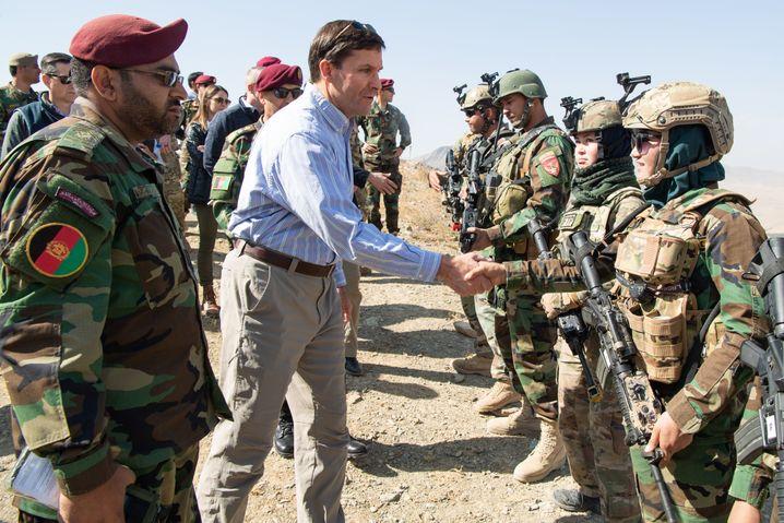 US-Verteidigungsminister Mark Esper bei seinem Besuch in Afghanistan am 21. Oktober: Schwierige Mission