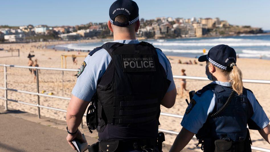 Polizeistreife in Sydney: Für die Stadt gelten strenge Regeln