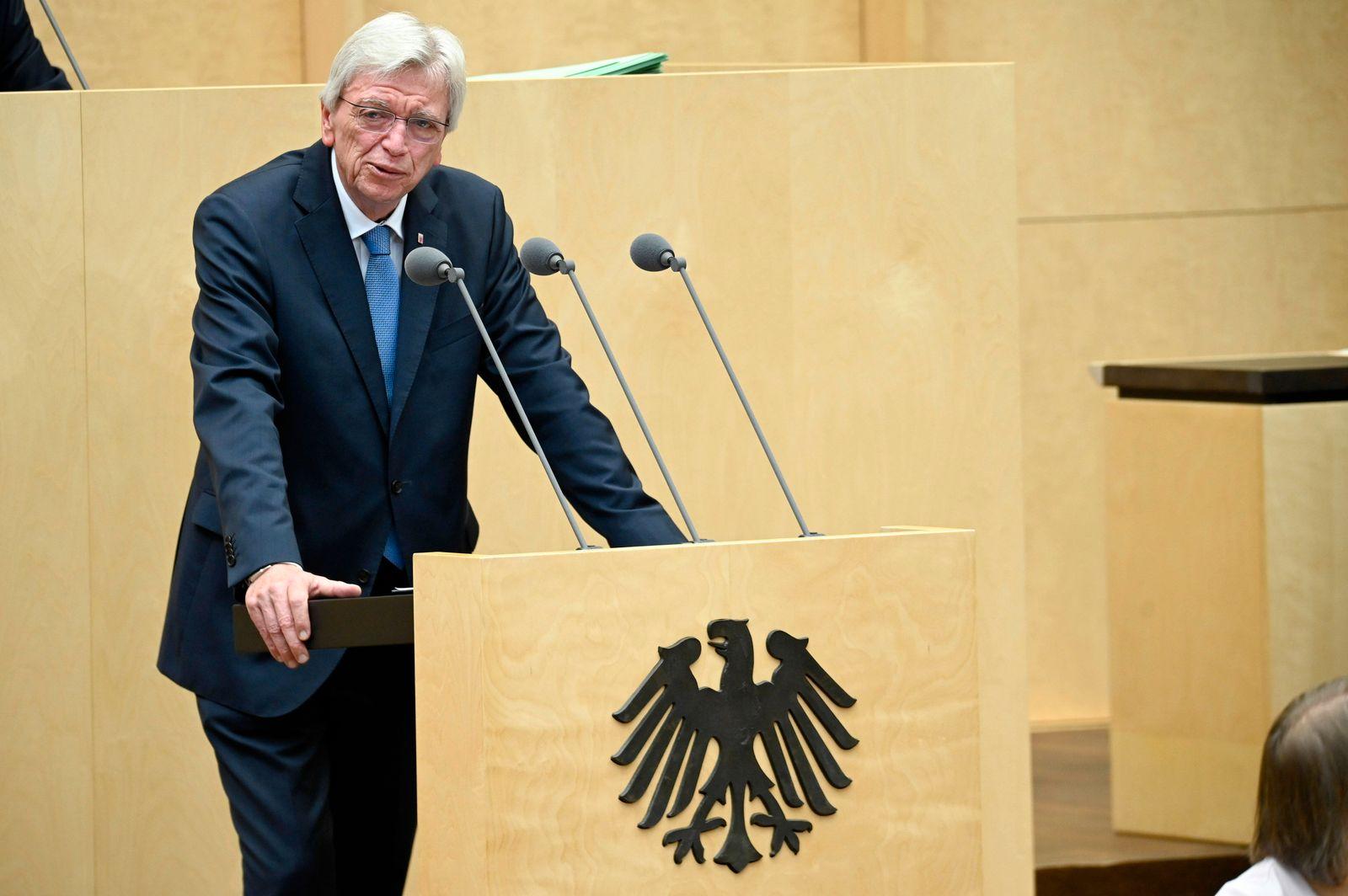 Volker Bouffier bei der 992. Sitzung des Bundesrates im Plenarsaal des Preußischen Herrenhauses. Berlin, 03.07.2020 ***