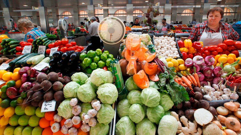 Gemüsestand in Sankt Petersburg: Polnische Ware muss draußen bleiben