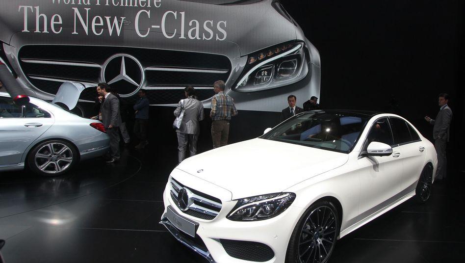 Mercedes C-Klasse bei der Premiere 2014 in Detroit