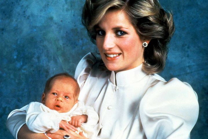 Prinz Harry 1984 mit Mutter Diana
