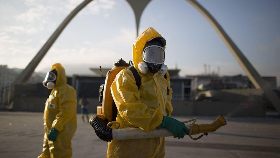 Kampf gegen Mücken in Rio de Janeiro, Brasilien