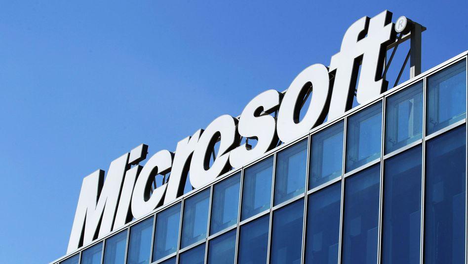 Microsoft-Logo: Mehrere Kandidaten im Gespräch