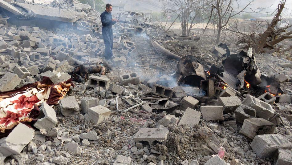 Angeblich von der türkischen Luftwaffe angegriffen: Das Dorf Zergele im Kandilgebirge