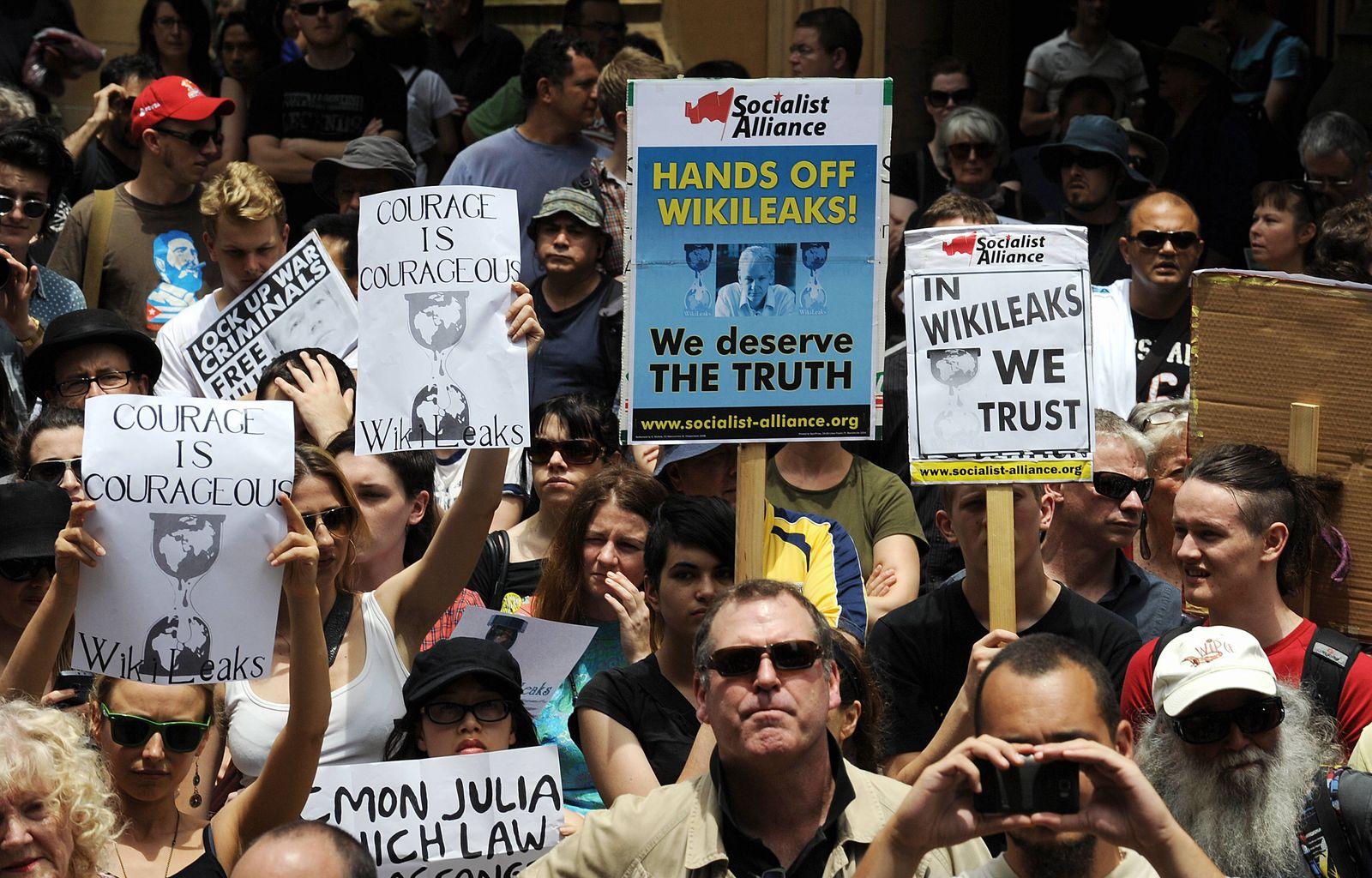 Australien / Proteste / WikiLeaks