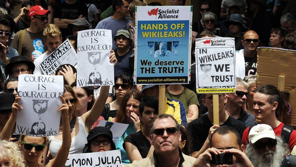 Australische Demonstration für WikiLeaks: Aufstand in Assanges Namen
