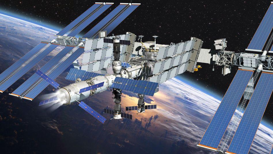 """ATV Johannes Kepler"" an der ISS (Computergrafik): Station erfolgreich angehoben"