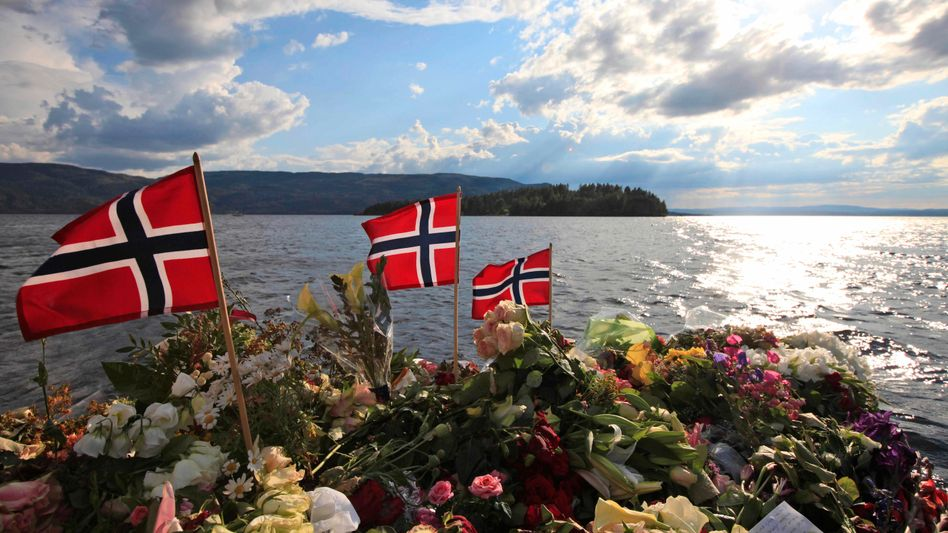 Blick auf Utøya: Breiviks Tat erschütterte Norwegen