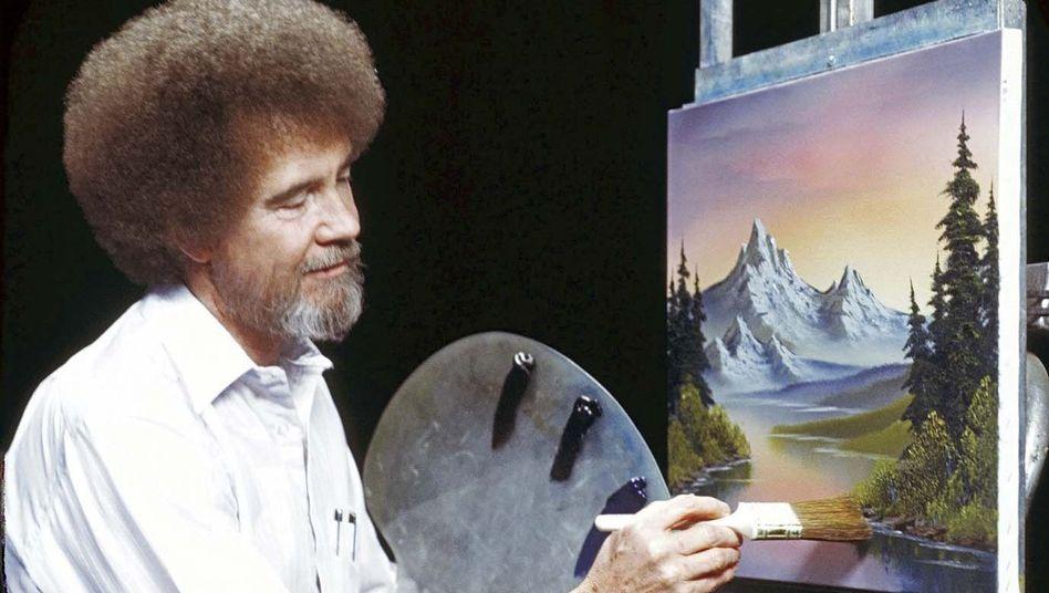 TV-Legende Bob Ross: Einige Twitter-Nutzer malen sogar mit