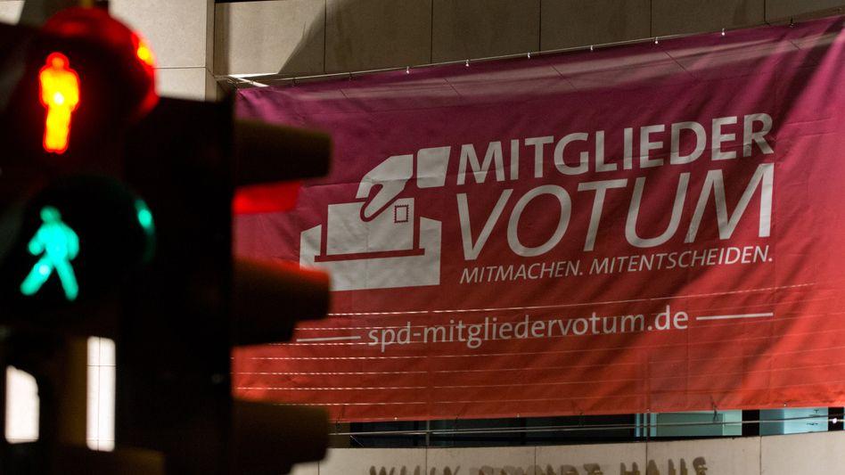 Werben um die Basis: Bis zum 12. Dezember müssen die Stimmen abgegeben sein