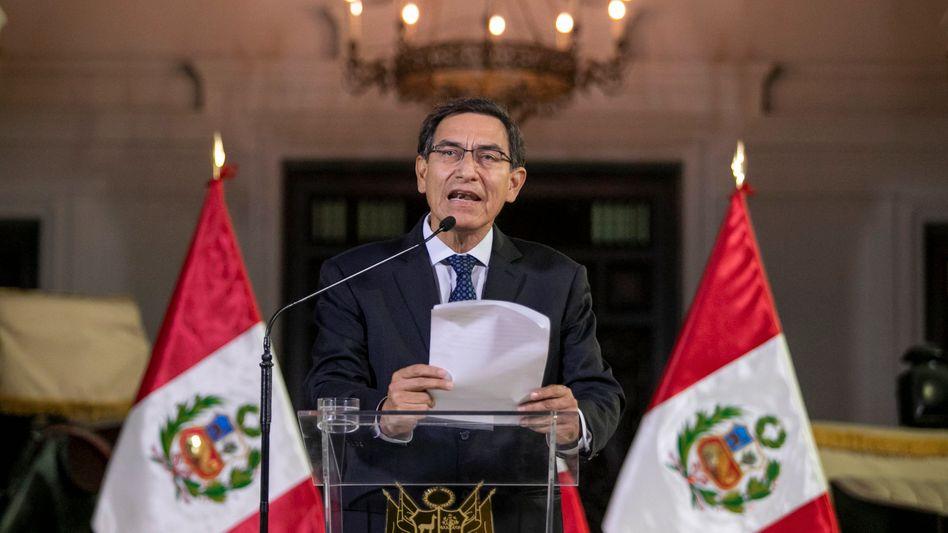 Martín Vizcarra ist seit März 2018 der Staatschef des südamerikanischen Landes