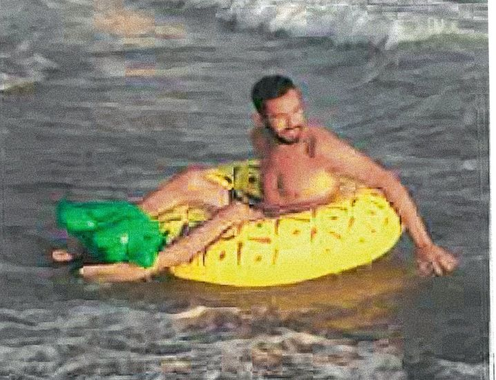 Ismail on a Turkish beach vacation after his return from the war in Syria