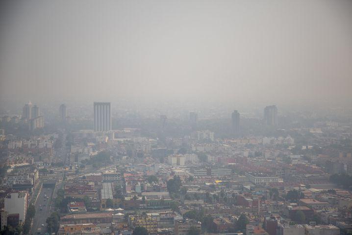 Mexiko-Stadt: Blick auf die Luftverschmutzung (Archivbild)