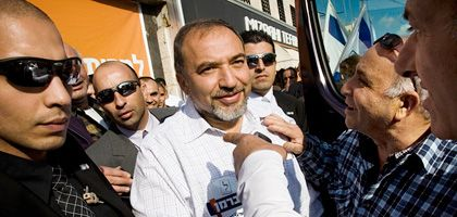 Israel-Beitenu-Chef Lieberman im Wahlkampf: Drittstärkste Kraft im Land