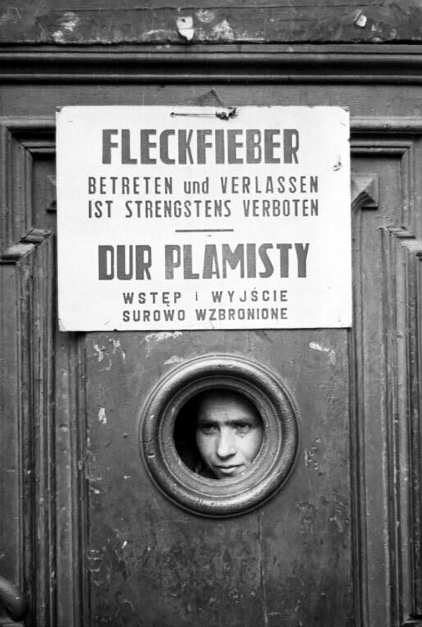 Polen, Ghetto Warschau, Fleckfieber-Warnung