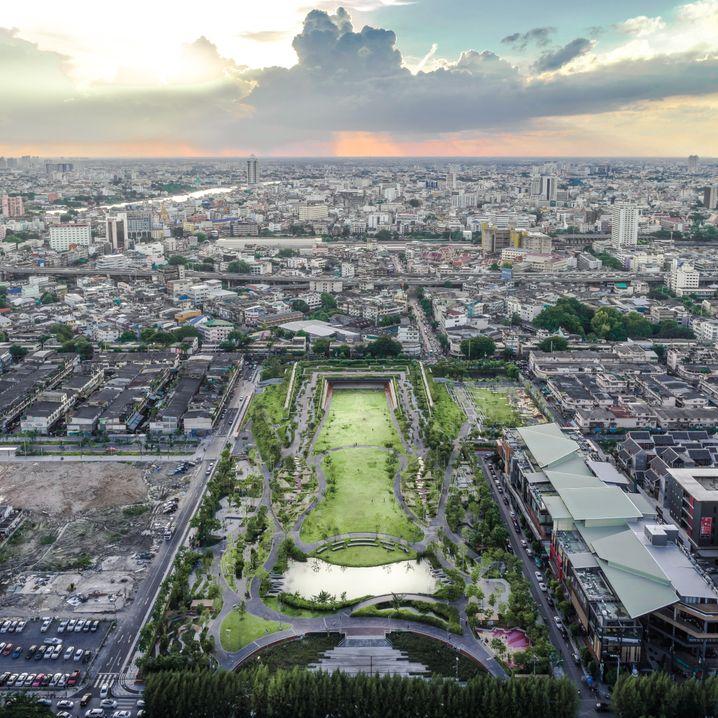 Eines von Voraakhoms Projekten: Der Chulalongkorn University Centenary Park schützt Bangkok vor Überschwemmung