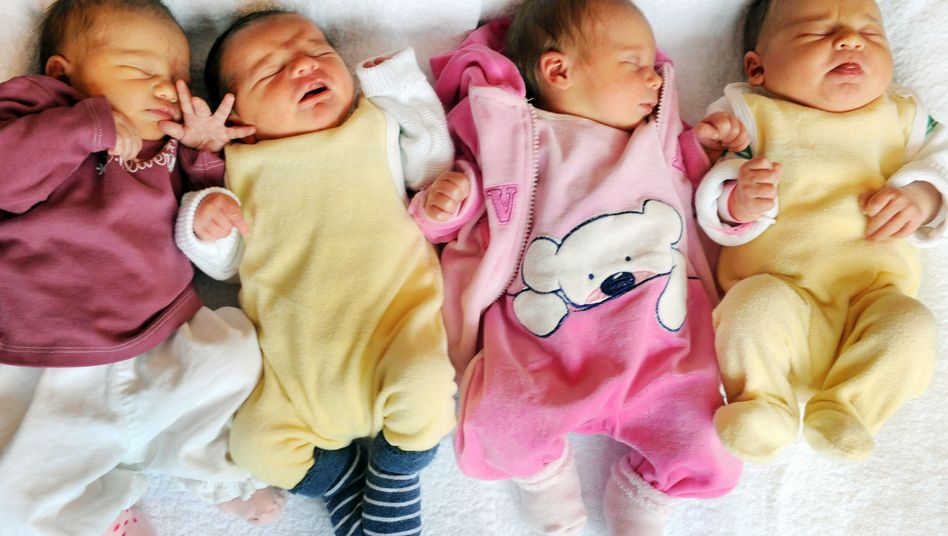 Gegen den Trend: In Deutschland blieb die Geburtenrate relativ stabil