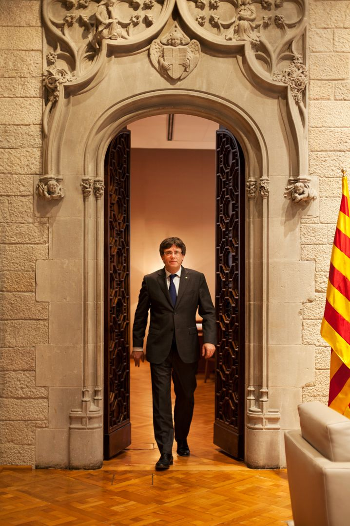 Catalan Prime Minister Carles Puigdemont: It won't be easy, he says, but he believes the European Union would ultimately accept Catalonia as an independent country.